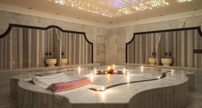 Myoka Spa treatment room with candles
