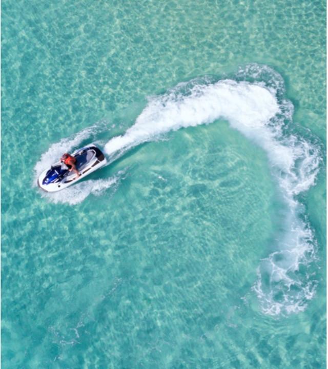 Jet ski on the water